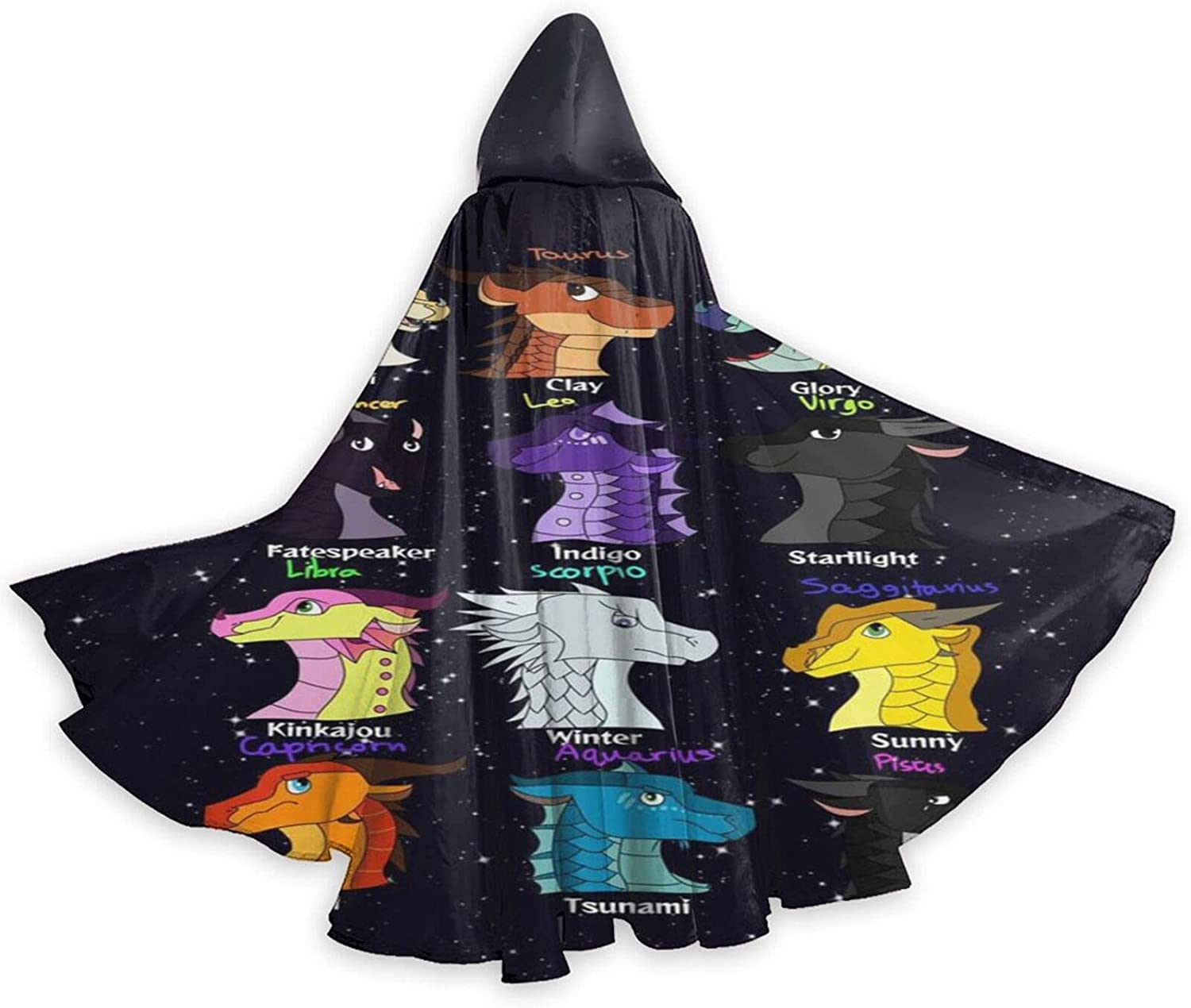 5 ☆ very popular Unisex W-ings of Our shop most popular Fire Hooded Cloak Cosplay Robe Halloween Wizard