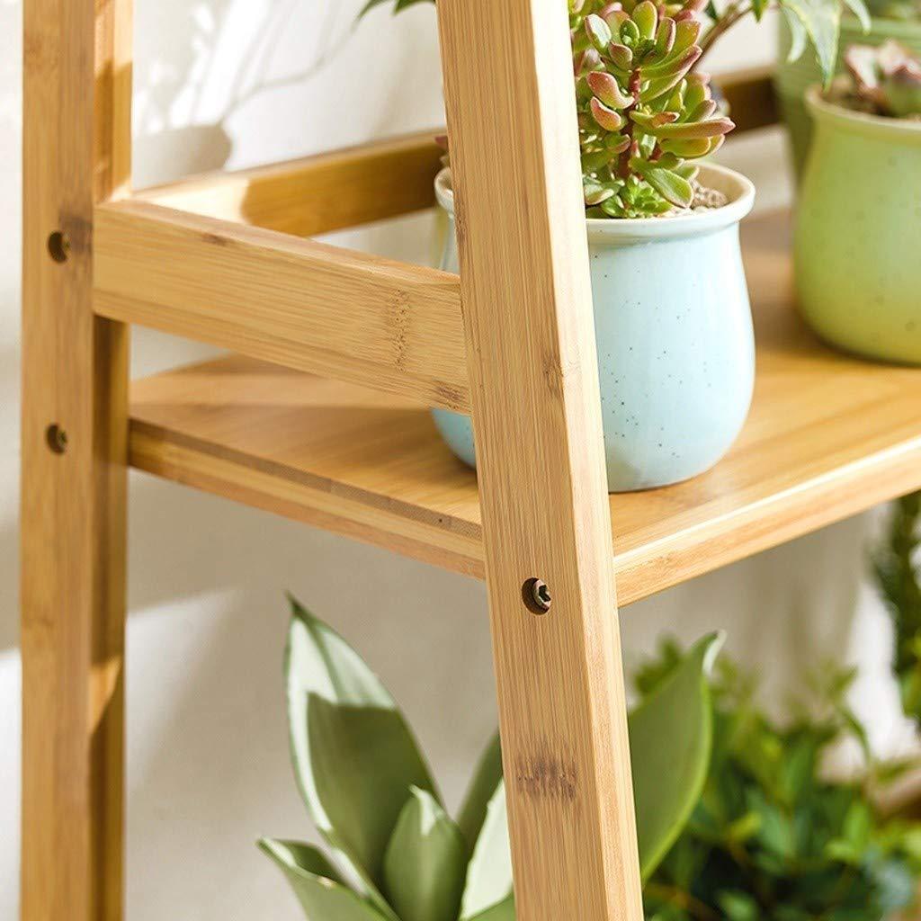 Yxx max -Soporte de Flores Bambú Flower Stand 5-Nivel Planta de Escalera en Forma de Soporte de exhibición del Estantes Tiesto Libro del Organizador del Caso del almacenaje Soporte de exhibición: Amazon.es: