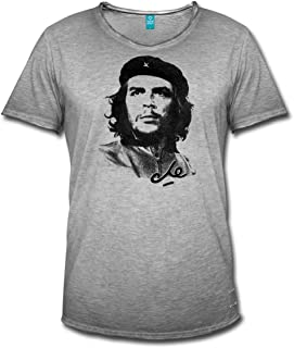 Mens Iconic T-Shirt Freedom Fighter Cuba Che Guevara Face Silhouette