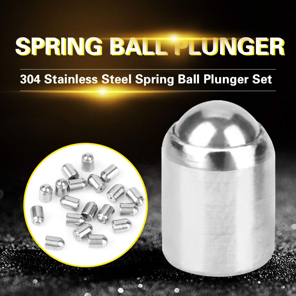 20 pcs 304 Ball Plunger Stainless Steel Precision Positioning Beads Screw Spring Smooth Ball Plunger /φ 2 * 3