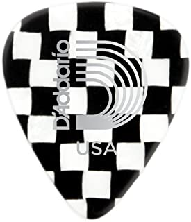 D'Addaro Checkerboard Celluloid Guitar Picks, Medium, 10 Pack