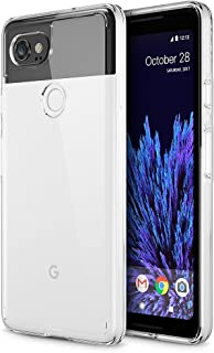 Trianium CLARIUM Series Case for Google Pixel 2 XL (2017) Premium Pixel 2 XL Phone Case Clear Cover [Shock Absorption TPU + PC Back] Reinforced Corner Cushion/Scratch Resistant Protection - Clear