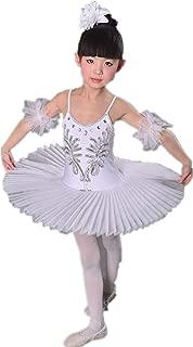 Women Swan Ballet Tutu Hard Organdy Platter Performance Leotard Dress