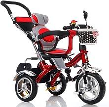 Strollers NAUY @ Triciclo para niños Triciclo para niños 1-3-6 años Viejos Niños Plegables 3-Espuma-Rueda Cochecito de bebé Asiento Giratorio sin cobertizo Sillas de Paseo