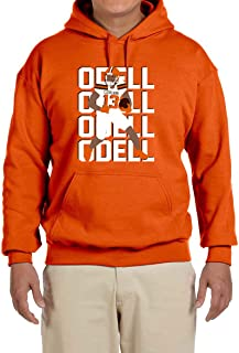 Tobin Clothing Orange Cleveland Odell Text Pic Hooded Sweatshirt