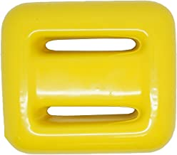 Scuba Choice Yellow Vinyl Coated Diving Lead Weights, 3LB
