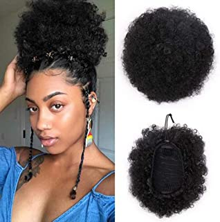 VGTE Synthetic Curly Hair Ponytail African American Short Afro Kinky Curly Wrap Synthetic..