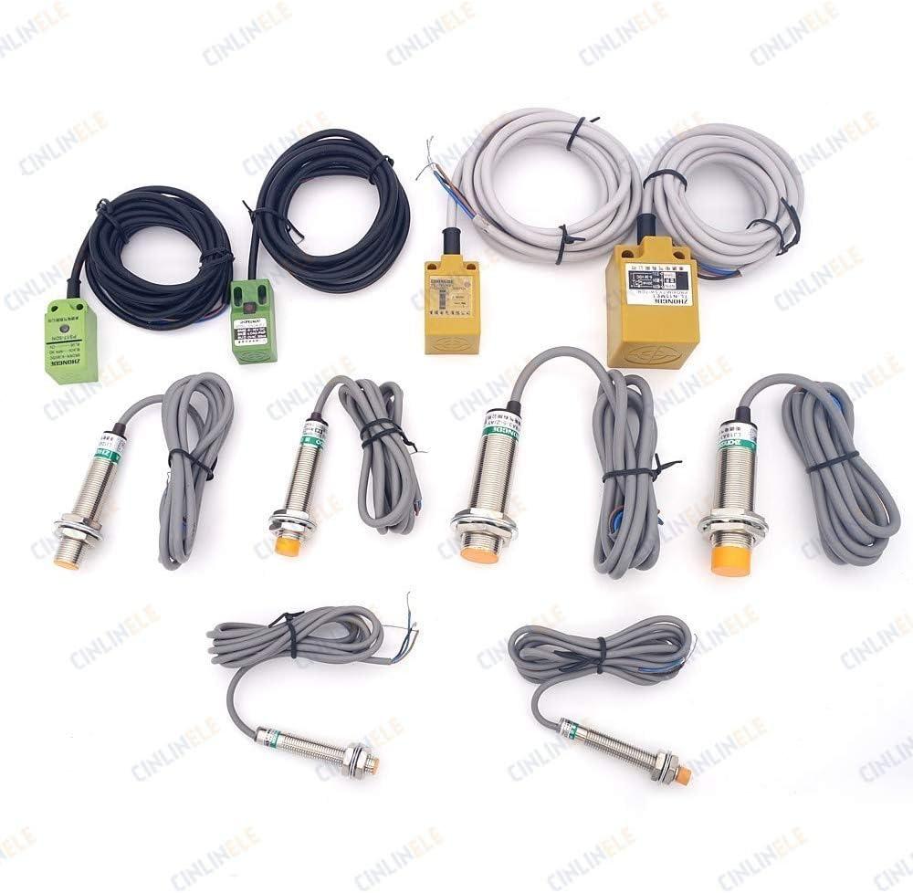 Color: 5mm, Voltage: NPN, Size: NC 5mm /& 8mm Sensing PL08N /& PL05N Cube Shell Inductive Screen Metal Type Proximity Switch Sensor NPN PNP NO NC AC DC