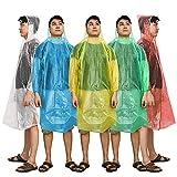 Kany Regenponcho, Notfall Einweg Regen Poncho (5 Pack) Sortiert Unisex-Erwachsene Notfall...