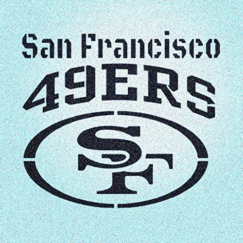 San Francisco 49ers Stencil Mylar Mancave Sports Football Stencils