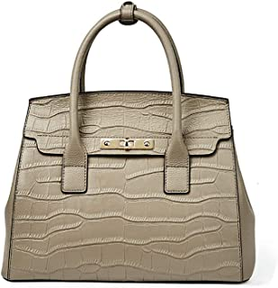 Stylish and Elegant Ladies Handbag, Large-Capacity Leather Shoulder Bag,Beige