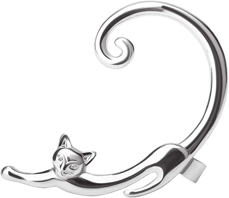 1Pc Fashion Cartoon Cat Earrings Piercing Ear Cuff Wraps Party Jewelry for Women Men Girls Boys
