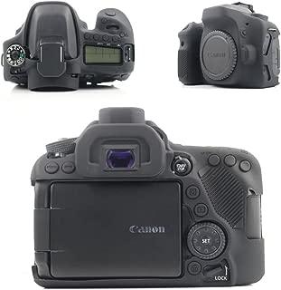 Canon デジタル一眼レフカメラ EOS 80D ケース MaxKu ソフト 軽量 落下防止ソフトケース 高品質シリコンケース 衝撃吸収カバー (ブラック)