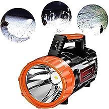 LKNJLL Super Bright Torch Searchlight Handheld Portable LED Spotlight USB Rechargeable Flashlight for Mining,Camping,Hikin...