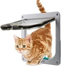 WADEO Puerta para Mascotas,Puerta para Perro/Gato Puerta Magnética Automática para Animal Doméstico - Blanco