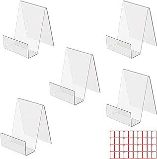 LAITER 5 Pcs Présentoir de Livre en Acrylique Porte-Livre Transparent 100 x 100 x 77 mm Support Présentation de Table pour...