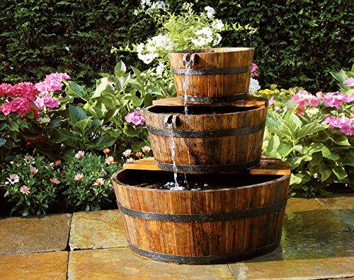 Ubbink AcquaArte Edinburgh Gartenbrunnen Set Springbrunnen Holzfass