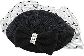Pop Your Dream Elegant Vintage Women Fascinator Kentucky Derby Hat Pillbox Cocktail Hair Clip with Bowknot Veil