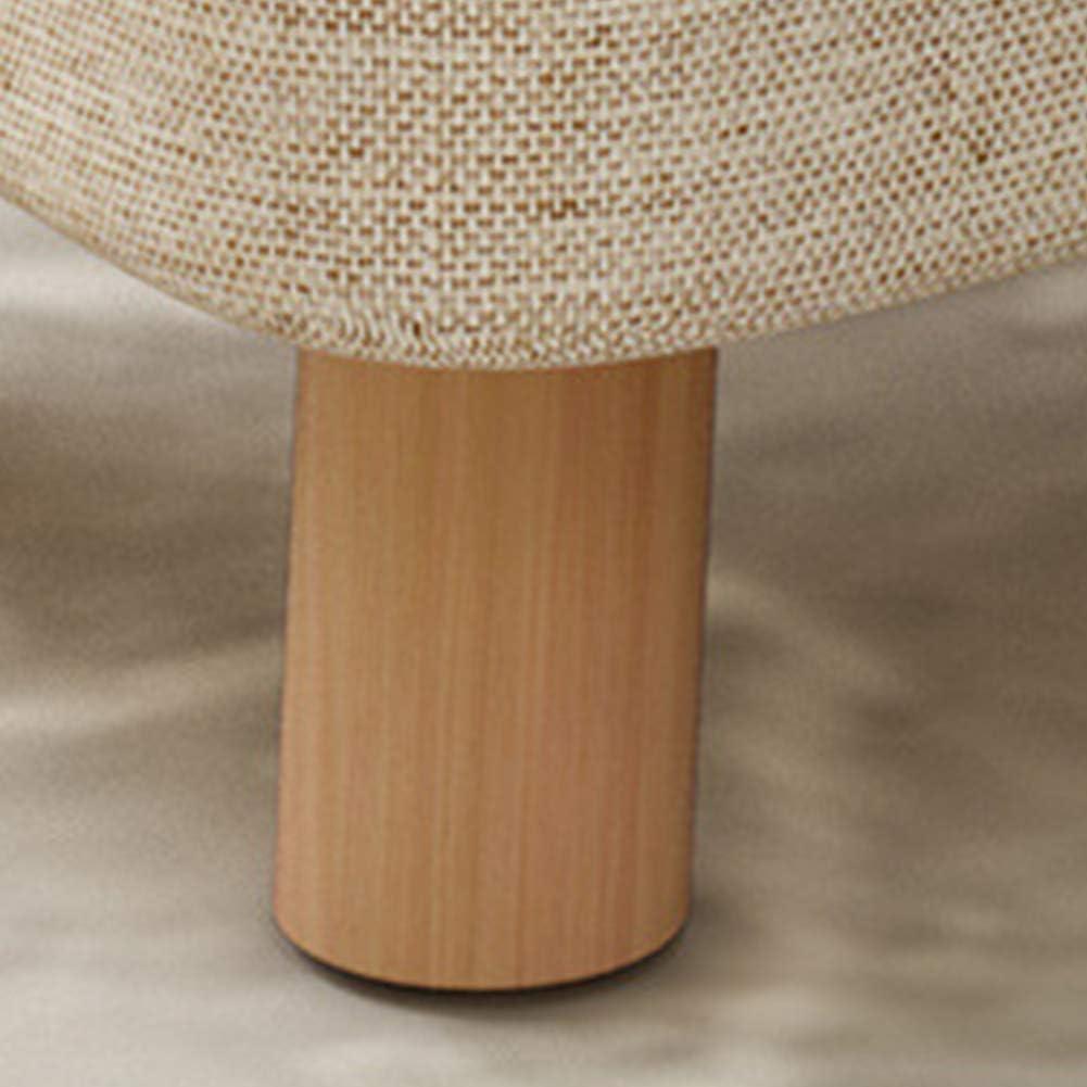 Tabouret en tissu de coton et lin avec rembourrage en éponge hautement élastique, lavable, doux et durable, stable - 4 pieds de tabouret avec coussinets antidérapants A C