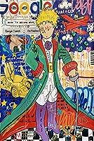 グラフィティストリートアートキャンバスプリント絵画抽象図壁画リビングルーム家の装飾ポスター 70x100cmx0007-9