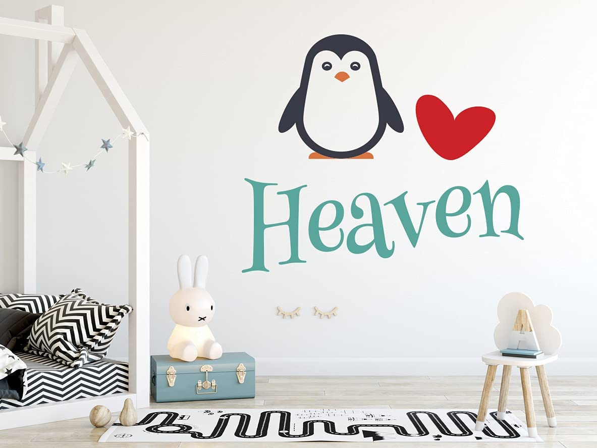 Penguin Custom Great interest Name - Decal Wall Personalize Al sold out. Love