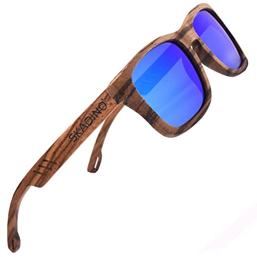 7a8ec06a7a1b SKADINO Bamboo Sunglasses with Polarized lenses-Handmade Wood for Men&Women  SD6011