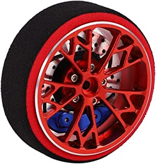 HONG YI-HAT Metal Remote Control Handwheel Suitable for SANWA MT4 MT4S M11X M11 MX-V Remote Control スペアパーツ (Color : Red)