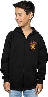 Harry Potter Niños Gryffindor Crest Breast Print Cremallera Sudadera con Capucha