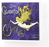 BLVヴィンテージ自転車広告ポスター–Vintage Cycles Gladiatorフランス自転車広告ポスター–グリーティングカード Set of 12 Greeting Cards