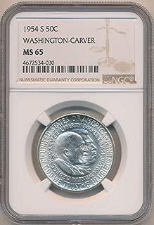 1954 S Half Dollar Washington Carver MS65 NGC