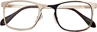 Classic Retro Metal Eyeglasses Frame Clear Lens Top Driving Designer Eyewear