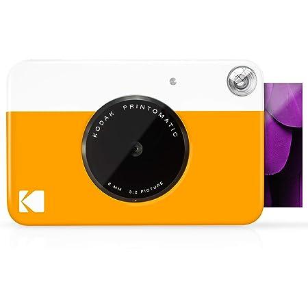 Kodak Printomatic - Cámara de impresión instantánea, imprime en Papel Zink 5 x 7.6 cm con respaldo adhesivo, amarillo