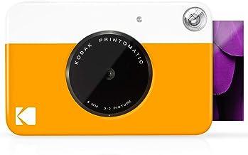 "KODAK Printomatic Digital Instant Print Camera - Full Color Prints On ZINK 2x3"" Sticky-Backed Photo Paper (Yellow) Print M..."