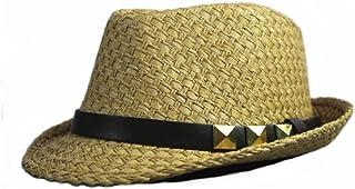AINIYF Sun Hat Jazz Hat Panama Hat, Men's Summer Outdoor Sun Protection Beach Hat (Color : Brown)