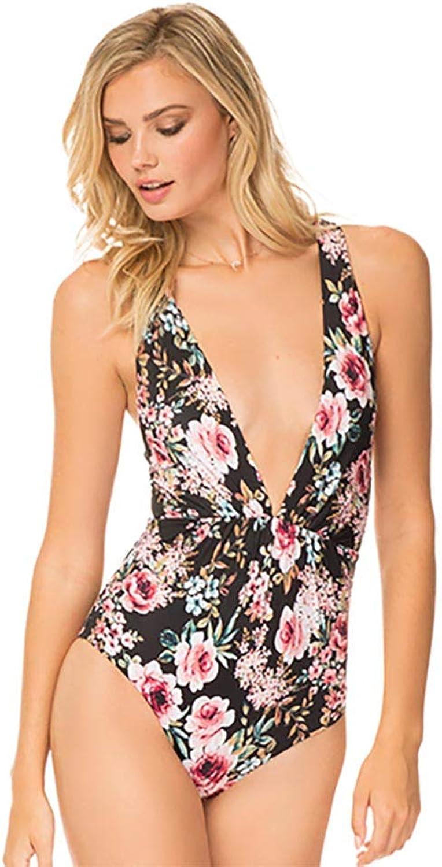 Tori Praver Black CAYMEN Floral Andie ONE Piece