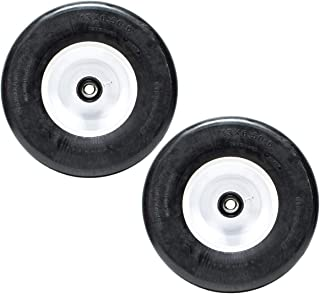 2PK 13x6.5x6 13x6.50-6 13x6.50x6 Puncture Proof Solid Wheel Assemblies Tires Replaces Exmark 103-0065, Toro Z Master, Scag, Turf Tiger Cub Zero Turn and Many More
