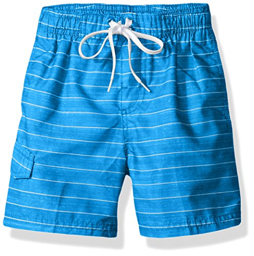 Kanu Surf Boys' Little Quick Dry UPF 50+ Beach Swim Trunk, Line Up Royal Blue, 5/6
