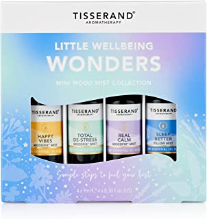 Tisserand Aromatherapy Mini Mood Mist Collection, 4x9ml