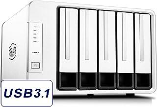 TerraMaster D5-300 USB3.1 (Gen1) Type C 5-Bay External Hard Drive Enclosure Support RAID 5 Hard Disk RAID Storage (Diskless)
