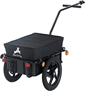 Youwend Double Wheel Internal Frame Enclosed Bicycle Cargo Trailer - Black