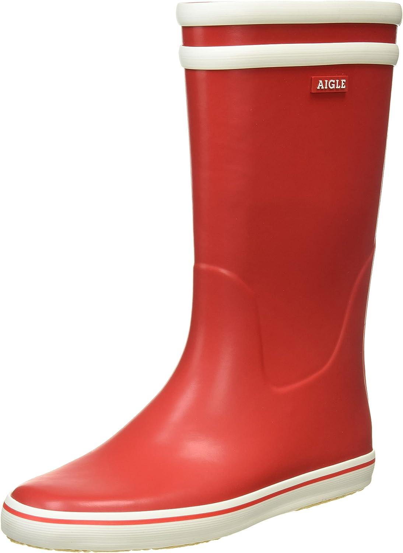 Aigle Women's Malouine Bt Wellington Red 6 Blanc Rouge Boots Direct store Regular dealer