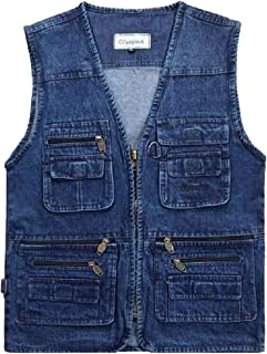 Men's Summer Outdoor Sleeveless Work Safari Fishing Travel Vest with Pockets