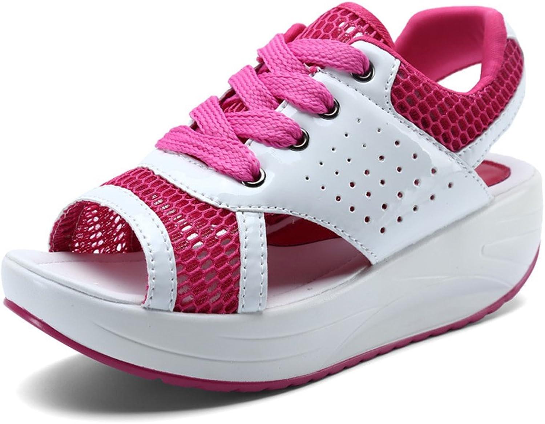 PRETTYHOMEL Woman Platform shoes Heel Height Increasing Mesh Casual Wedges shoes Female Heels Sneakers