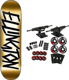 Deathwish Skateboard Complete Ellington Gang Name Gold 8.5