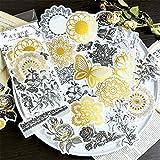 Gobesty Etiqueta engomada del diario de bricolaje, 60 PCS Washi Stickers Etiquetas autoadhesivas Decoración de notas para Scrapbook, Notebook, Journal, Card Making, Letters