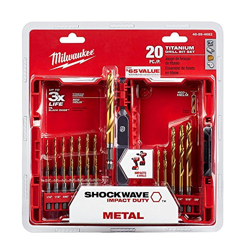 Milwaukee Shockwave Titanium Red Helix Drill Bit Set (20-Piece)