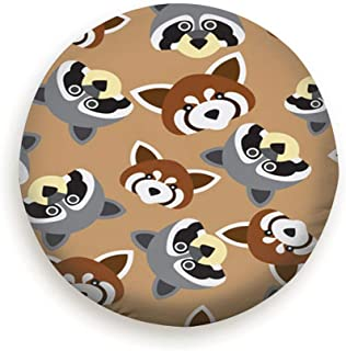 X-Large Raccoon Red Panda Head Animals Wildlife Universal Spare Wheel Tire Cover Fit for Truck Camper Van,Jeep,Trailer, Rv, SUV Trailer Accessories (14,15,16,17 Inch)