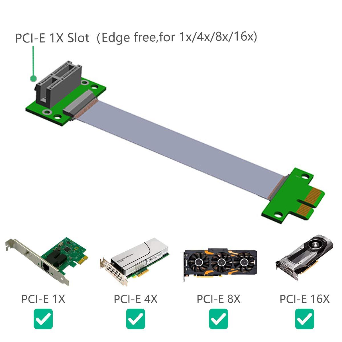 1x PCI-E 8X Extensive Cable para Computadora PC de Alta Calidad PCI-e 8x Extender Riser Tarjeta