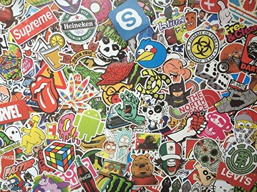 Aufkleber mix Skateboard Gepäck, doodle, Graffiti Sticker Koffer, Markenlogo, aleatorischen, Held, Musik, lustig, Kinder, Videospiele Autos, Motorrad Aufkleber Bomb (20)