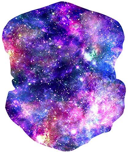 Loveternal Galaxy Outdoor Funktionstücher Halstuch Multifunktionstuch Nahtloses Kopftuch,Schlauchtuch,Schal,Stirnband, Bikertuch,Unisex,Schnelltrocknend Winddicht Face Scarf für Staub, im Freien,Sport